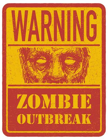 madman: Zombie. Dibujado a mano. Ilustraci�n vectorial eps 8 Vectores