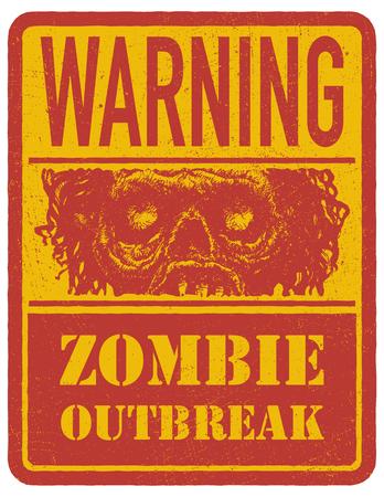 madman: Zombie. Dibujado a mano. Vectores