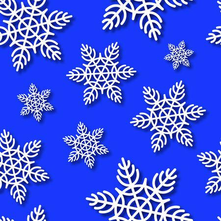 xmas background: Snowflakes Seamless Vector Background  Xmas Background