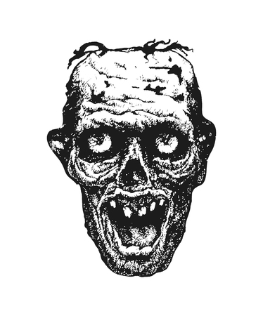 Zombie. Hand drawn. Vector illustration eps 8