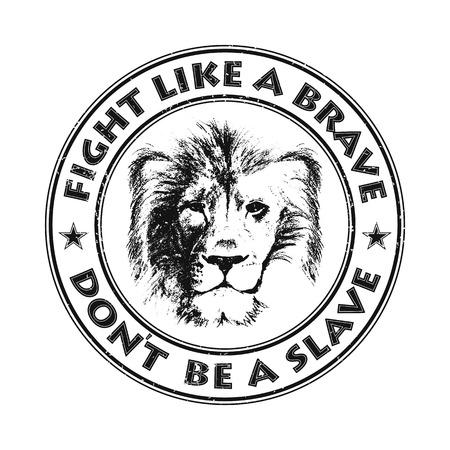 lion head. hand drawn. Grunge vector illustration Vector