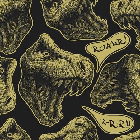 Trex Dinosaur. Vector seamless background. Eps 8