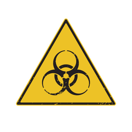 biological warfare: Biohazard Warning. Vector illustration Eps8