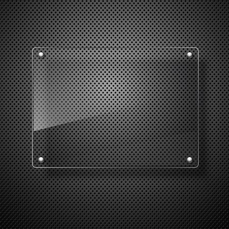 metal plate: abstract vector plane on black wall