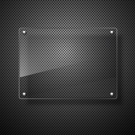 metales: plano vector abstracta en la pared negro Vectores