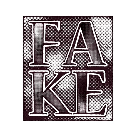 fake: fake art concept vector background