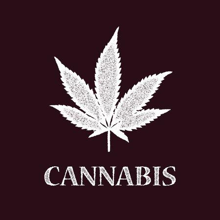 cannabis leaf: Vector cannabis grunge emblem. Eps8