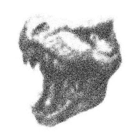 paleontology: Trex Dinosaur Vector hand drawn background. Grunge style. Illustration