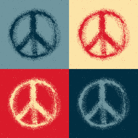 pacifism: Peace symbol drawing. Hand drawn. Vector illustration