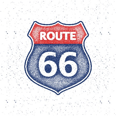 route 66: Route 66 Road Sign illustration