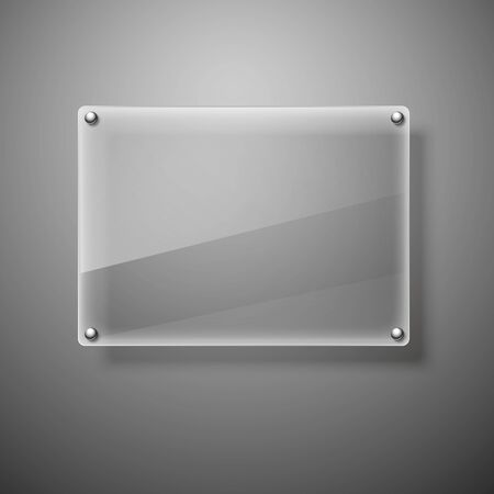 nameplate: Glass framework illustration