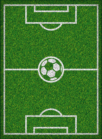 grass land: Football field Soccer concept Vector illustration,