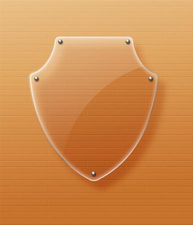 Framework: Glass framework Glass shield illustration.