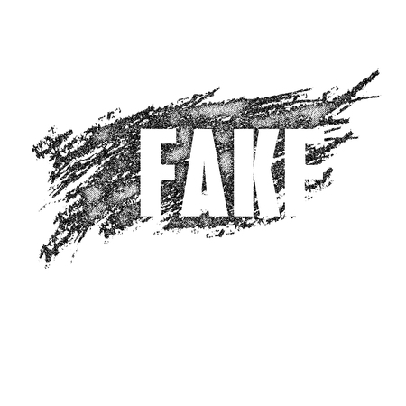 fraudulent: Fake chalk emblem