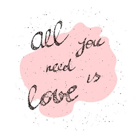 all love: All You Need is Love inscription image All You Need is Love inscription art.