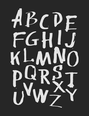 handwritten: Watercolor hand drawn alphabet. Vector illustration. Brush painted letters. Illustration