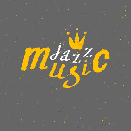 performance art: Jazz - live music. Lettering. Vector background Vector illustration