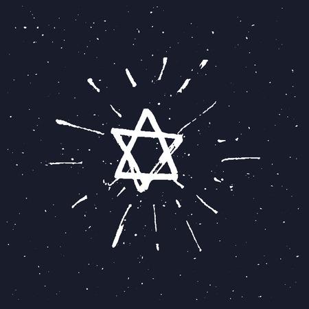 hannukah: Star of David. vector illustration