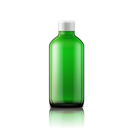 mixtures: Isolated medicine bottle on white background. Empty medicine bottle for drugs, tablets, capsules.