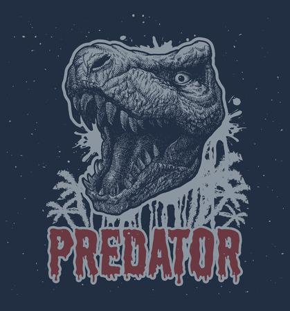trex: Trex Dinosaur hand drawn background.