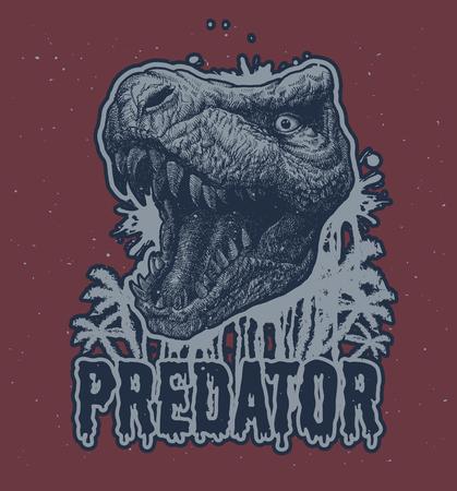 paleontology: Trex Dinosaur hand drawn background.
