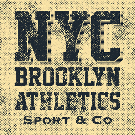 tees: Athletic sport New York typography, t-shirt graphics, vectors