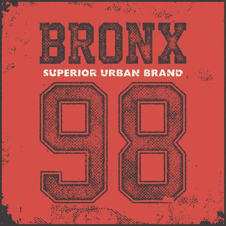 the varsity: vintage bronx typography, t-shirt graphics, vector illustration