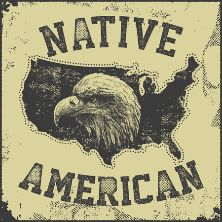 indios americanos: native American poster wiotheagle vector illustration Vectores