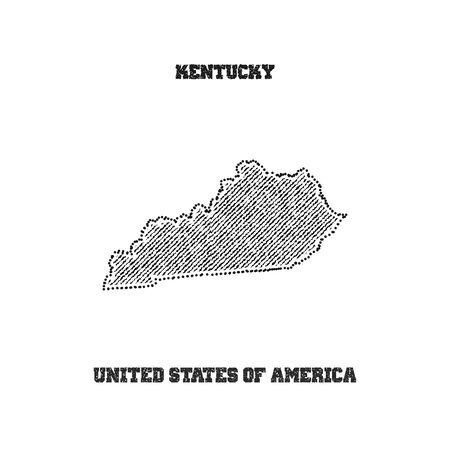 travel star: Label with map of kentucky. Vector illustration. Illustration