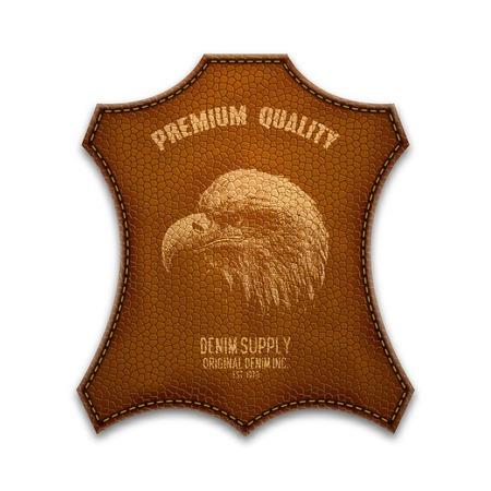 leather goods: Vintage Leather typography, grunge t-shirt graphics, Artwork apparel stamp, Wear tee print design, goods emblem, vector illustration