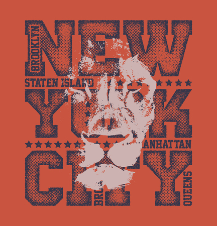 dirty clothes: New York City Typography Graphics, T-shirt design. vector illustration