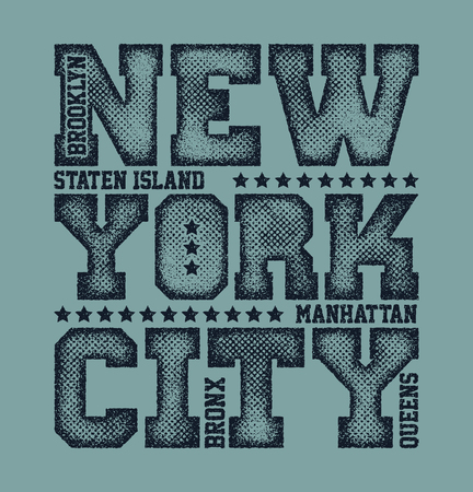 brooklyn: New York City Typography Graphics, T-shirt design. vector illustration