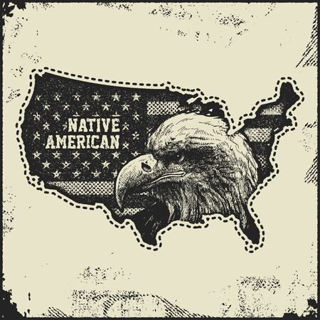 texturized: USA map grunge style vector illustration. Illustration