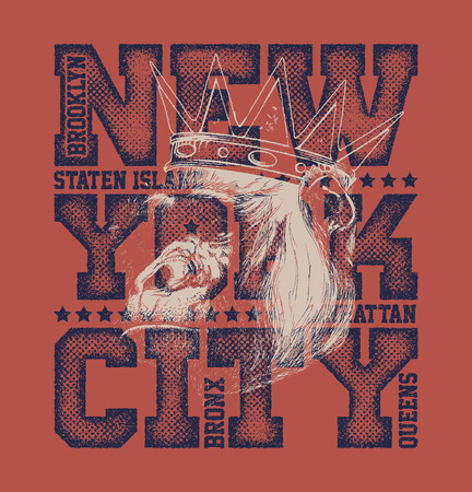 manufactured: New York City Typography Graphics, T-shirt design. vector illustration