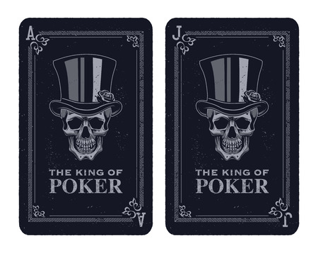 Skull poker card vector. Illustration