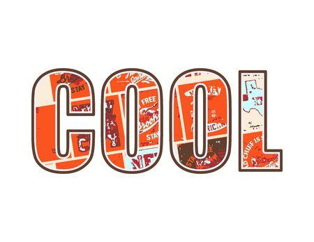 illustration cool: Cool Varsity Design Vector illustration. Illustration