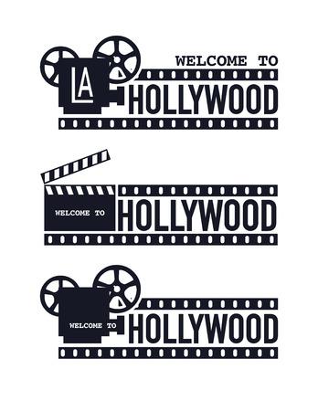 Template cinema poster Vector illustration. Vector set Ilustração Vetorial