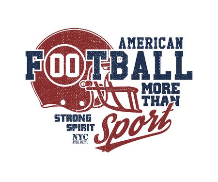 t shirt print: Football Helmet vector illustration Illustration