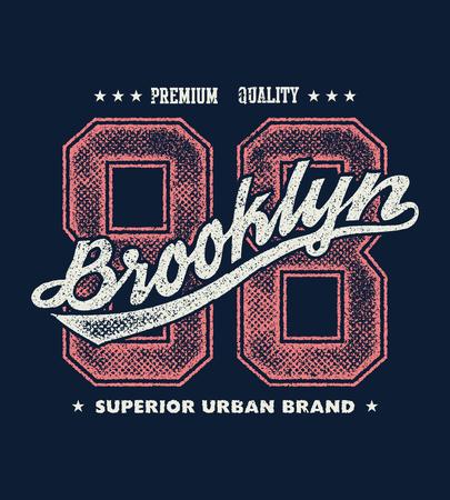 A vintage brooklyn typography, t-shirt graphics, vector illustration. Illustration