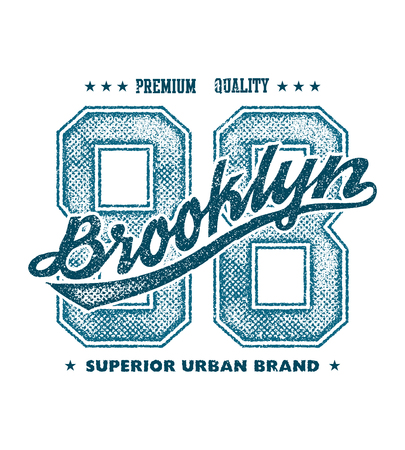 champ: vintage brooklyn typography, t-shirt graphics, vector illustration