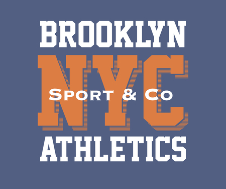 vintage brooklyn typography, t-shirt graphics, vector illustration