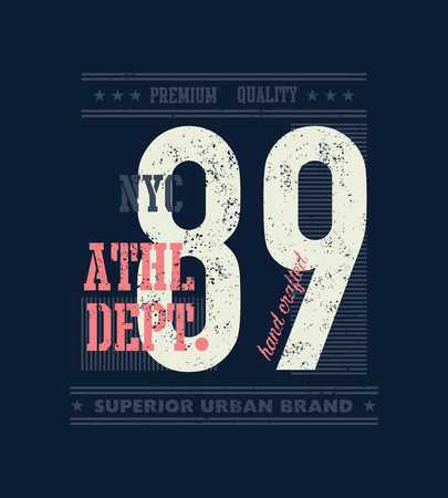 Vintage urban typography for t-shirt graphics vector illustration