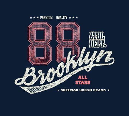 Vintage brooklyn typography, t-shirt graphics, vector illustration Stock Photo