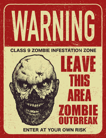 Poster zombie outbreak. Illustration