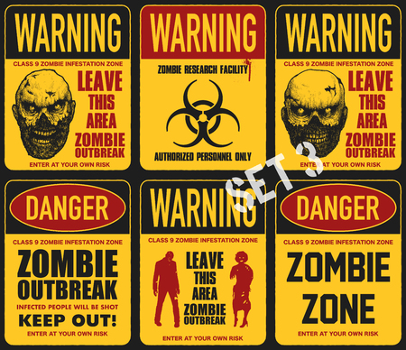 Poster zombie outbreak Illustration