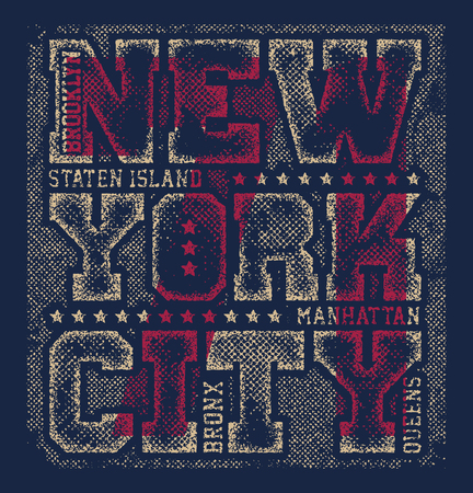 New york tee print with city streets t shirt design graphics stamp Stock Photo