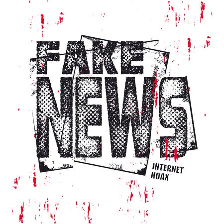 Fake News text. Hybrid warfare, alternative facts, fake news and media manipulation, propaganda. Vector illustration. Ilustração
