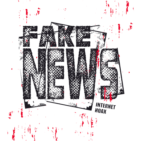 Fake News text. Hybrid warfare, alternative facts, fake news and media manipulation, propaganda. Vector illustration. Illustration