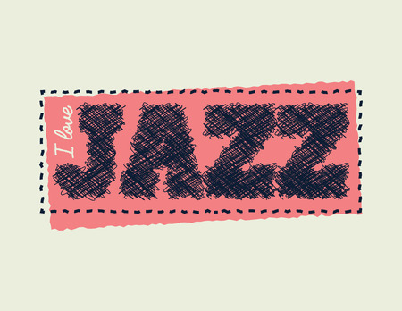 I love jazz. Element for your design. Vector illustration. Ilustração