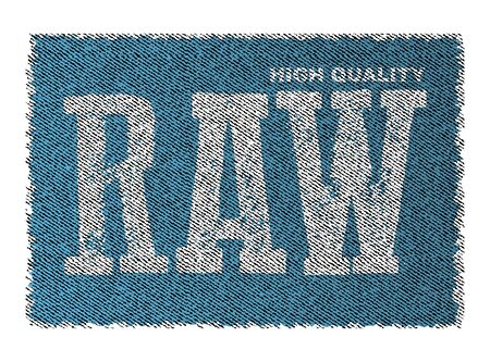 Raw Denim Jeans Creative Vector Concept on Distressed Background Stock fotó - 131956488